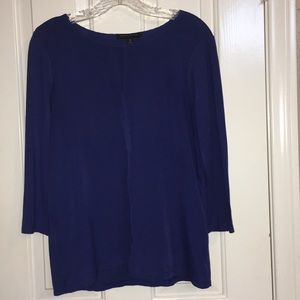 Banana Republic blue quarter sleeve blouse